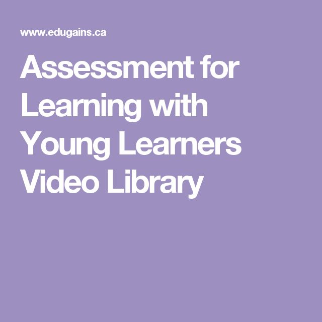 Assessment for Learning with Young Learners Video Library