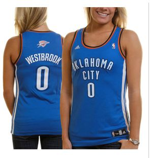 ADIDAS Russell Westbrook Oklahoma City Thunder Women's Fashion Jersey - Royal Blue
