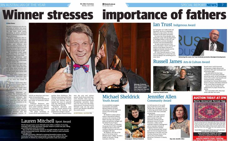 Bruce Robinson named Western Australian of the Year | thefatheringproject.org