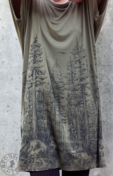 Redwood Forest oversize Tunic by Carousel Ink