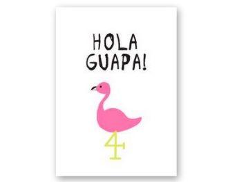 Met deze kaart kom je meteen in zomerse sferen! Wie houdt er nu niet van flamingo's?