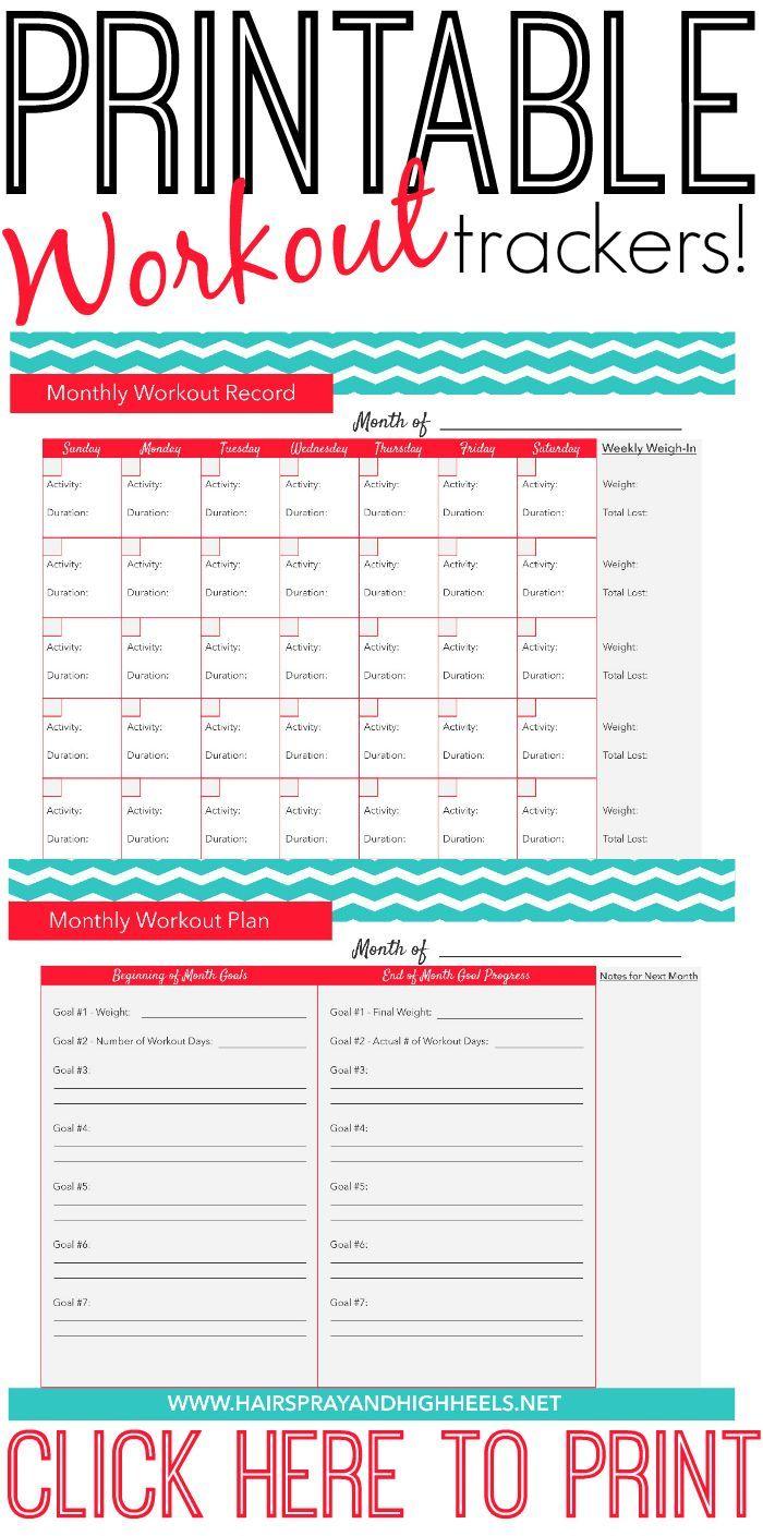 Calendar Binder Printables : Fitness tracker printable via http hairsprayandh