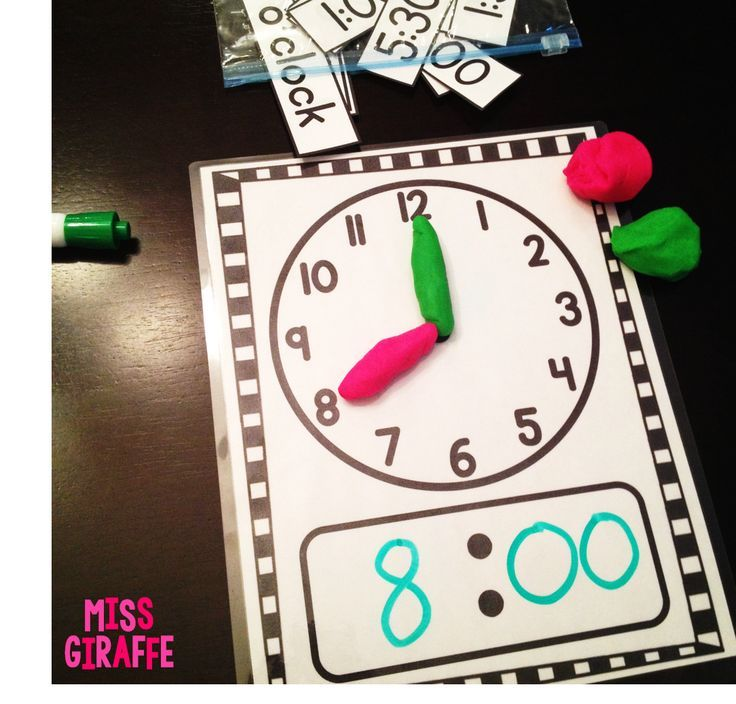 Enseñar las horas del reloj a los niños pequeños.