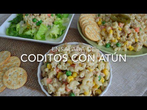 Ensalada de coditos con atún (receta fácil y rápida)