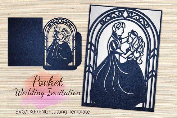 Cricut Wedding Invitation Template Pocket Quinceanera Invitation Template Bride And Gr Pocket Wedding Invitations Cricut Wedding Invitations Cricut Wedding