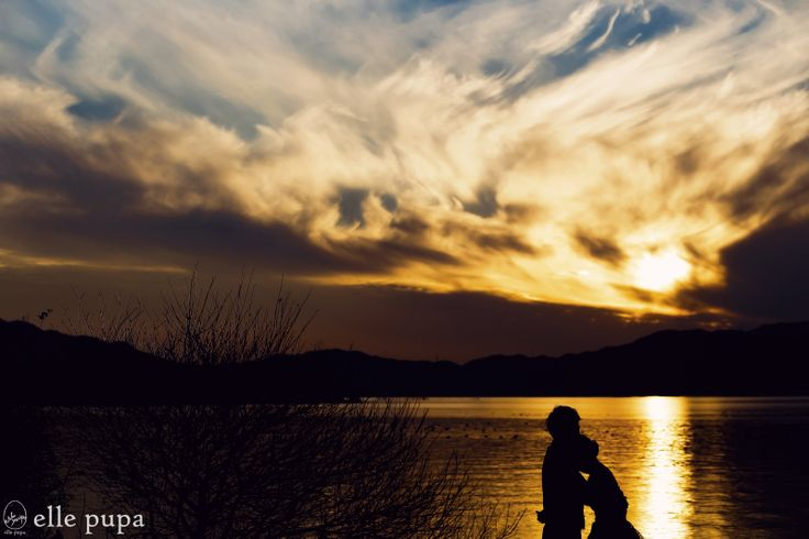 冬の前撮り*びわ湖湖畔 |*ウェディングフォト elle pupa blog*