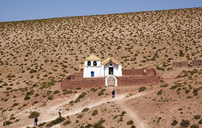 Chile                  Quaint church in the tiny village of Machuca, between El Tatio Geysers and San Pedro de Atacama.