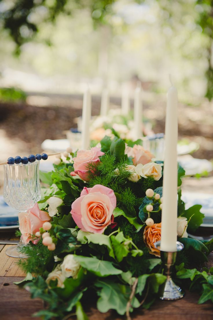 Candlesticks are so easy to place, look great and add a touch of romance.