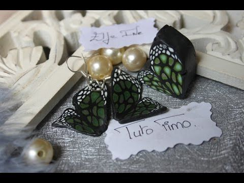 [♥✿ Tuto Fimo : la cane papillon ✿♥] ~ [♥✿ Polymer Clay Tutorial : Cane Butterfly ✿♥] - YouTube