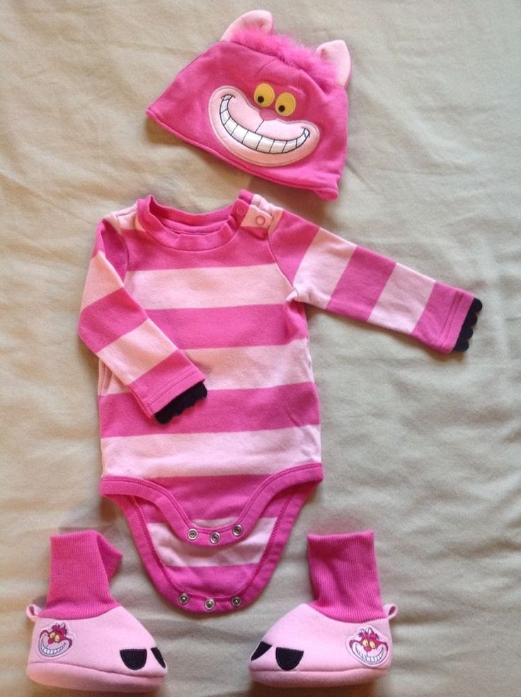 #disney #baby cheshire cat onsie costume with hat & booties size 3-6m from $10.0