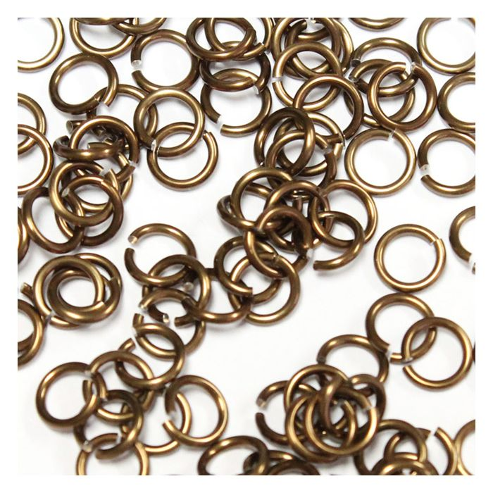 5mm (3/16 Inch) Bronze Anodized Aluminum Jump Rings