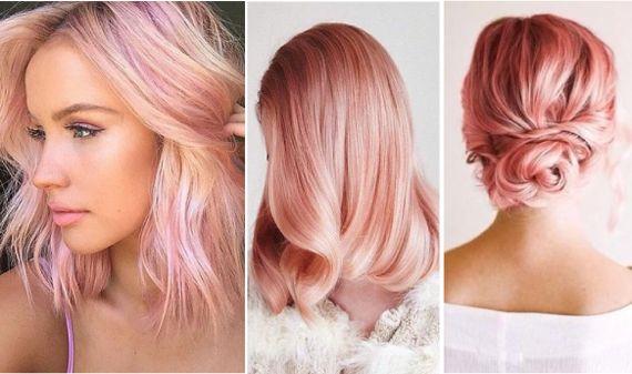Тенденция на розовые оттенки волос прослеживается еще с прошлого года. И этот тон не единственный в этом сезоне в группе розовых цветов. Такие оттенки в женских прическах приобретают дополнительный шарм. Хорошо смотрятся на блондинках: как пряди или как самостоятельный цвет. В отличие от Серенити, Розовый Кварц умеренней в своей не естественности, так как является отдаленным оттенком меди, который встречается в естественной гамме волос. И, да, это романтика, нежность и изысканность.