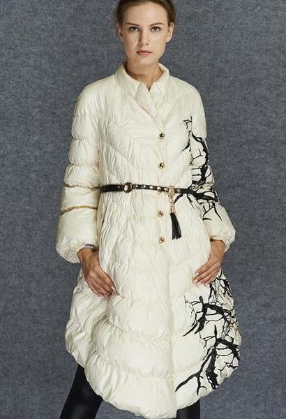 2e758d1a4 European Fashion Designer 2018 Parkas For Women Winter White Duck ...