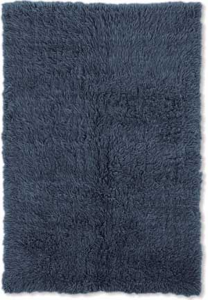 Genuine Flokati - Denim-Blue Shag Rug from the Flokati Rugs Collection collection at Modern Area Rugs