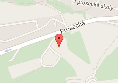 Map of Bobová dráha Prosek