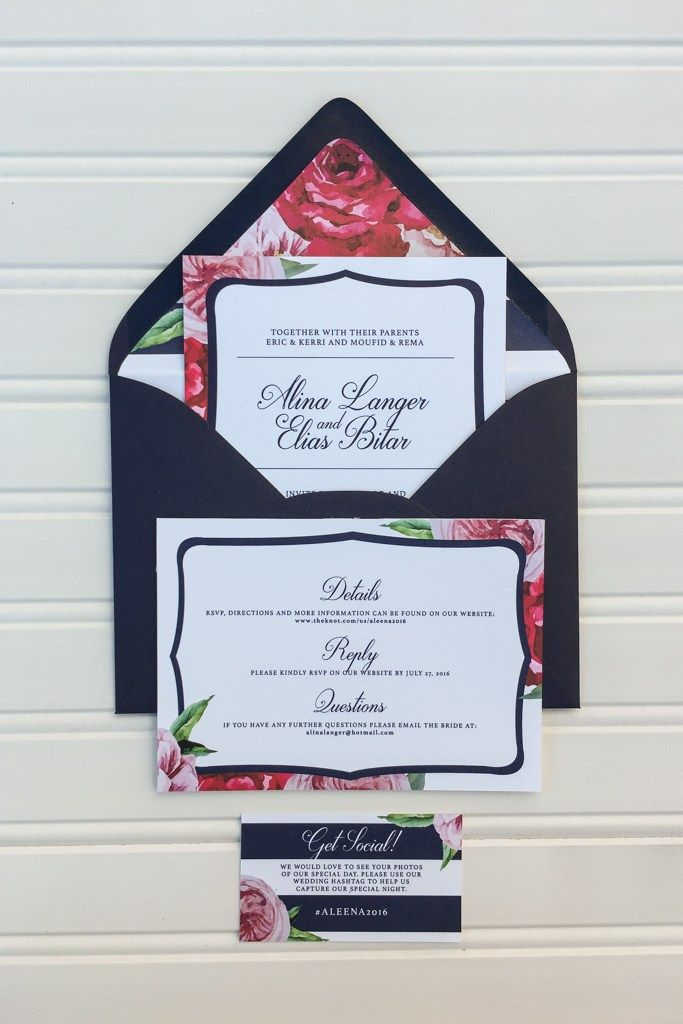29 best Wedding Invitations images on Pinterest | Ivory, Floral ...