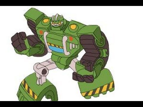 How to draw Boulder from Transformers Rescue Bots - YouTube