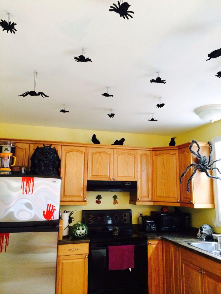 Ceiling decor for Halloween!