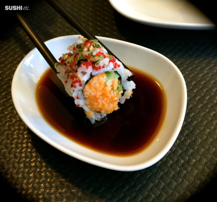 Soy sauce and #California #special #maki! Detail