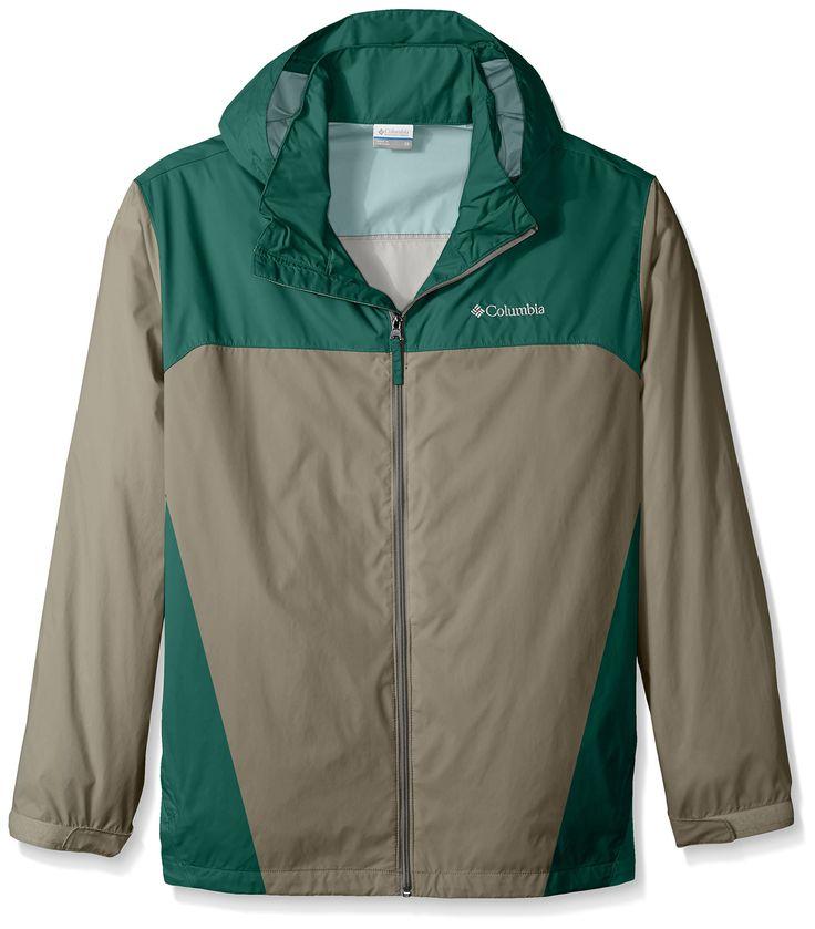 Columbia Men's Big & Tall Glennaker Lake Packable Rain Jacket,Kettle/Pine Green,2X