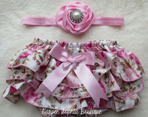 Perfect Photography Prop- Vintage Pink Floral Baby Bloomers & by HarperSophiaBoutique, $25.99