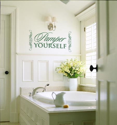 Pamper Yourself Wall Art Decal Vinyl Lettering Salon Day
