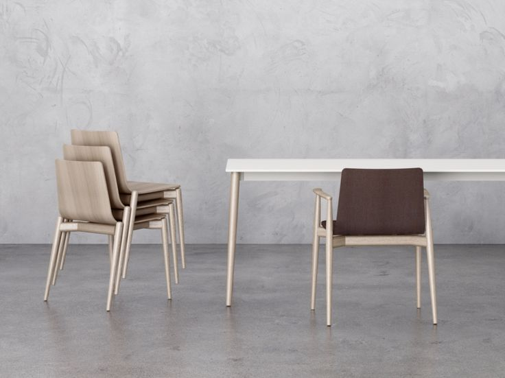 Stackable wooden waiting room chair MALMÖ Malmö Collection by PEDRALI | design Michele Cazzaniga, Simone Mandelli, Antonio Pagliarulo
