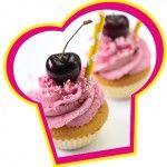 Citroen kersen cupcakes