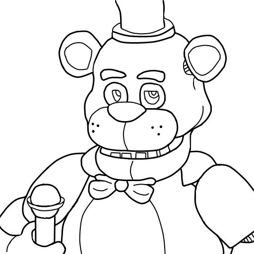 Selective image with regard to fnaf coloring pages printable