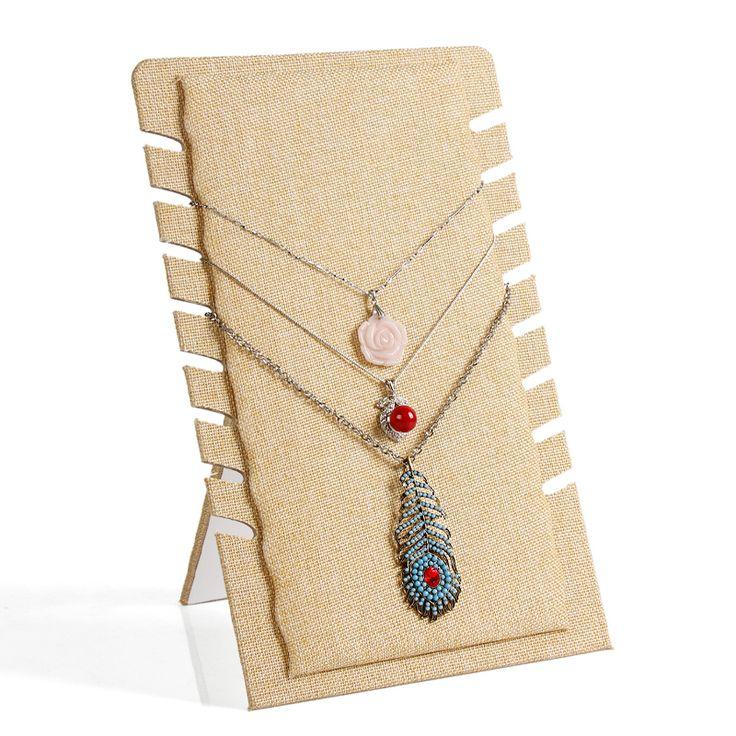 Linge étagère collier pendentif carte d'exposition stand porte - bijoux rack colliers suspension cadre bijoux affichage(China (Mainland))