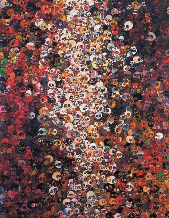 Takashi Murakami Prints for sale - I know not. I know.  https://www.artetrama.com/en/artworks/takashi-murakami-i-know-not-i-know  #murakami #takashimurakami #pop #skulls #print #superflat