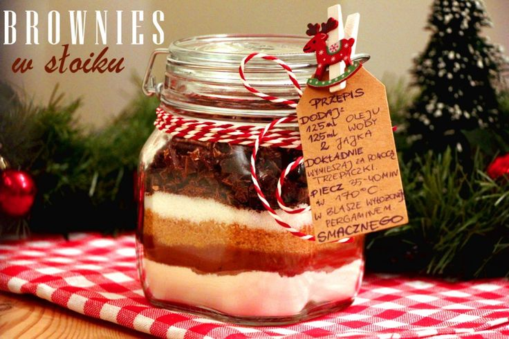 Brownies w słoiku na prezent – mocno czekoladowe, pyszne i oszałamiające, czyli prezent od serca :)