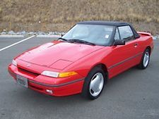 1992 Mercury Capri XR2 5-SPEED TURBO CHARGED ROADSTER 1.6L DOHC 4CYL