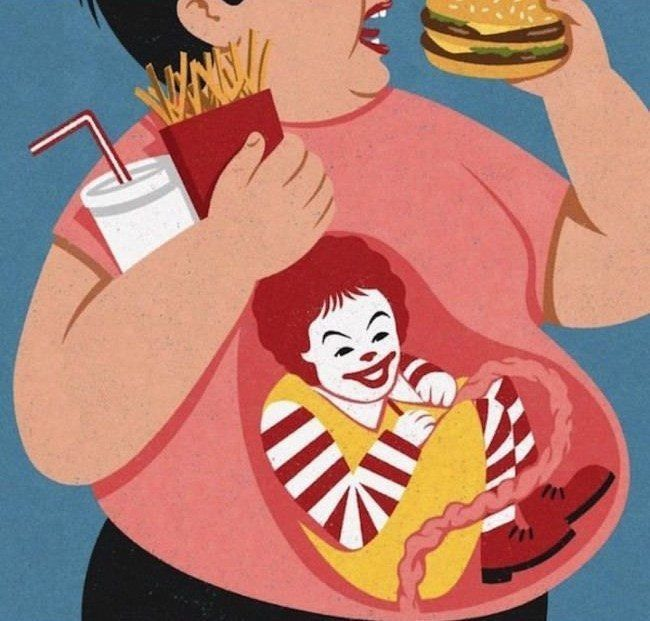 The Other Side Of Fast Food 30 Awesome Satirical Illustrations That Capture The Flaws Of Our Society • Page 4 of 5 • BoredBug