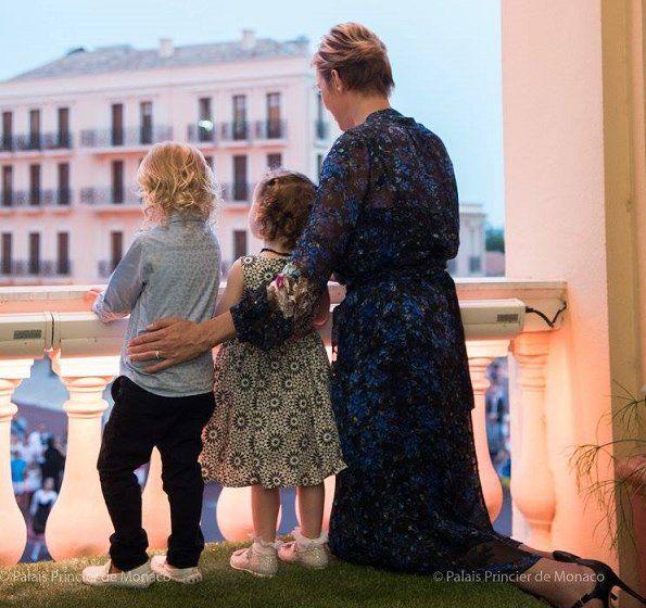 Princess Charlene, Gabriella and Jacques at St. John's Day Festival