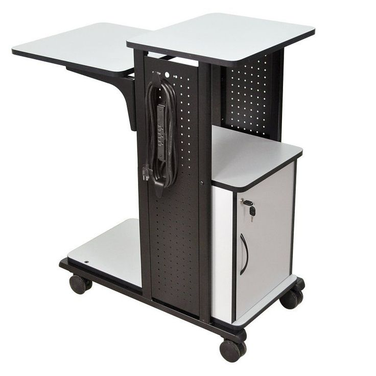 Luxor Mobile Laptop Computer Presentation Cart with Security Cabinet - WPS4CE