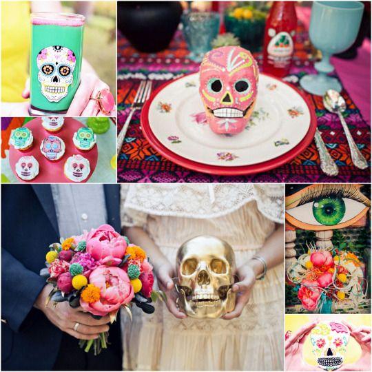 Dia De Los Muertos Wedding Theme Ideas: 1000+ Images About Halloween / Dia De Los Muertos Weddings