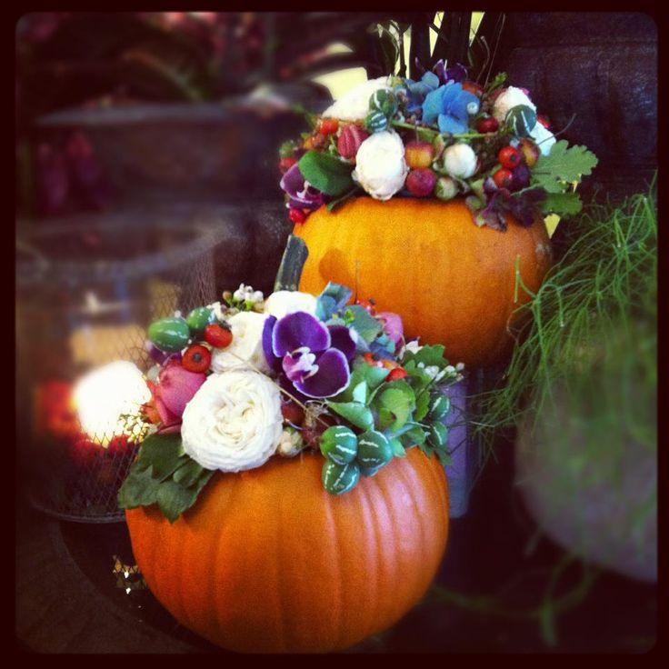 Zucche, bacche e fiori autunnali - Creazione di Jardin Divers