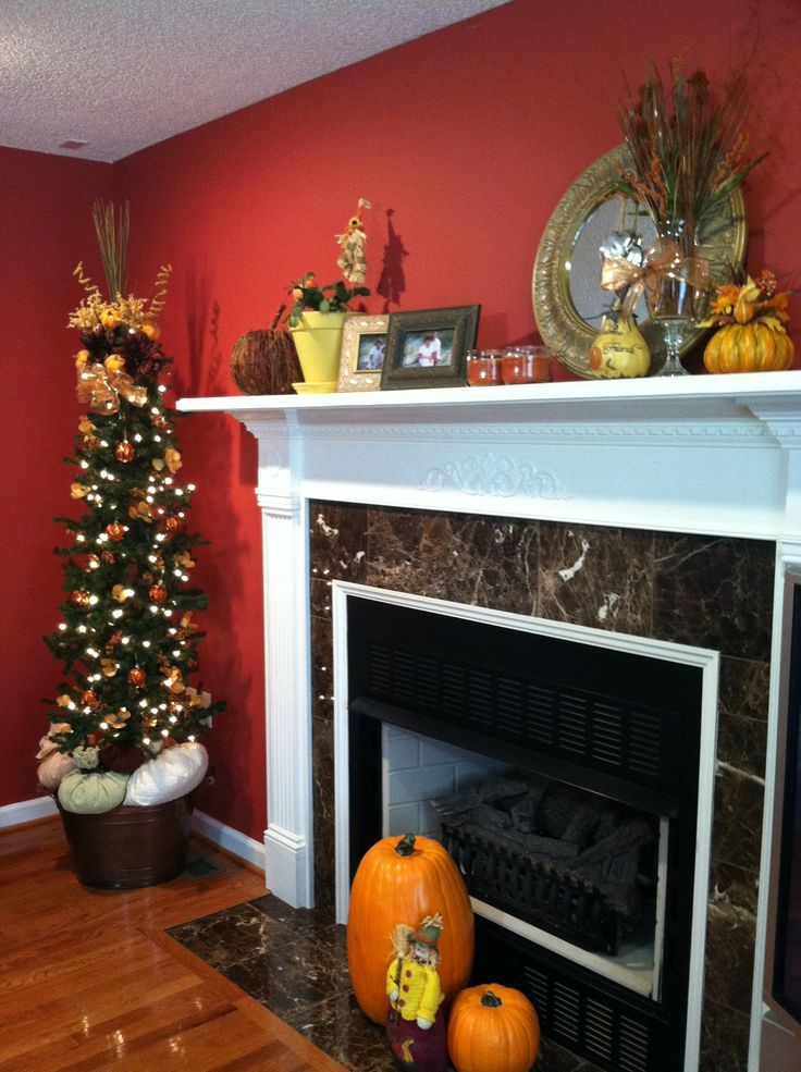 1000 ideas about fall mantel decorations on pinterest. Black Bedroom Furniture Sets. Home Design Ideas