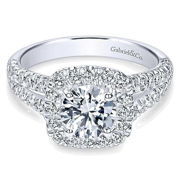 صور خواتم ألماس من الذهب الأبيض 2020 جديدة Fine Engagement Rings White Gold Engagement Rings Halo Classic Engagement Rings