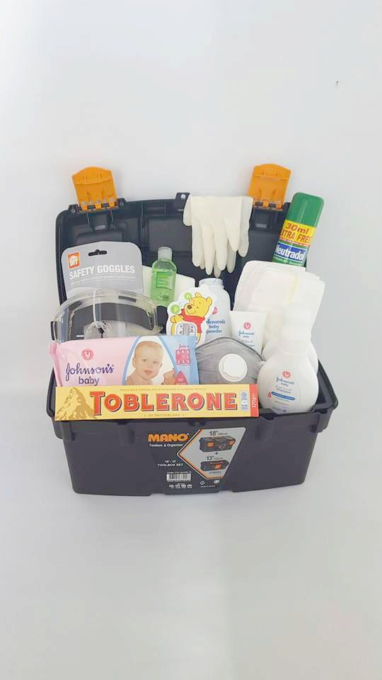 New Daddy Survival Tool Kit for new DaddiesBaby by SSNappyCakes                                                                                                                                                                                 More