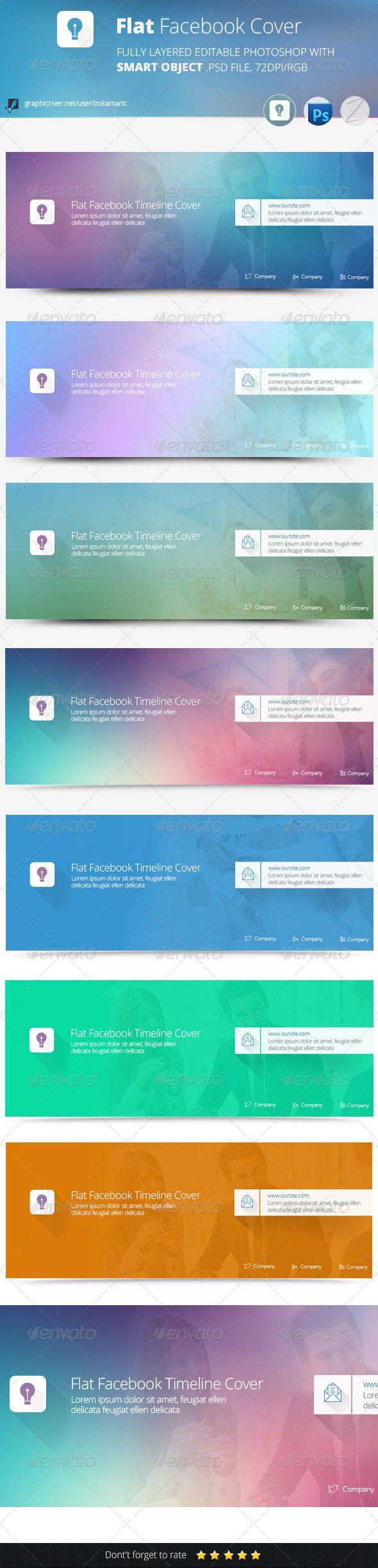 Flat Facebook Timeline Cover - Facebook Timeline Covers Social Media