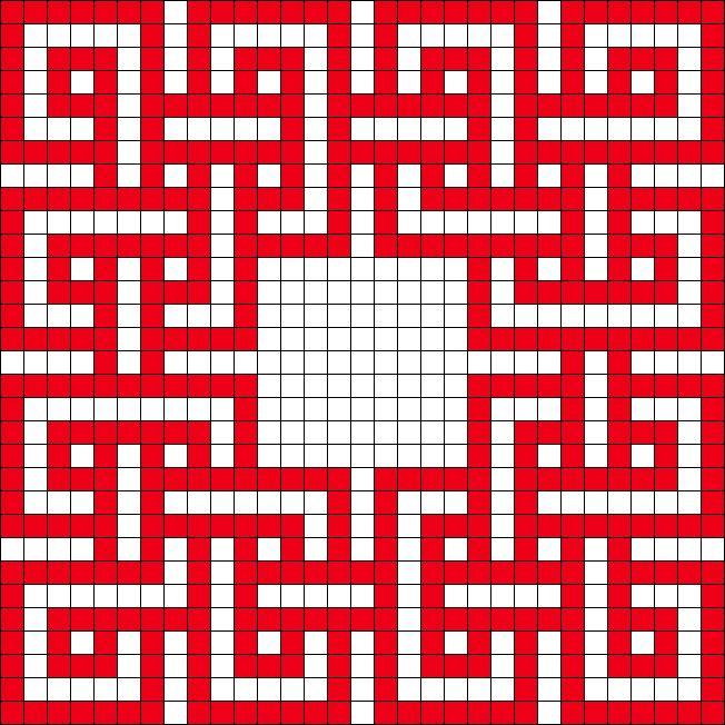 Celtic Knot perler bead pattern