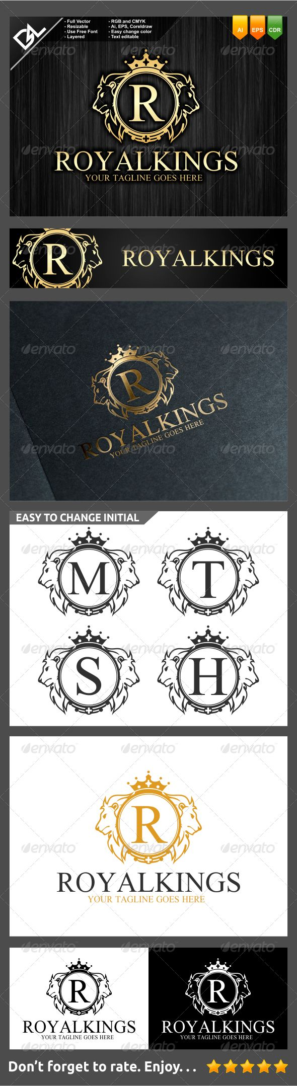 Royal Kings - Crests Logo Templates