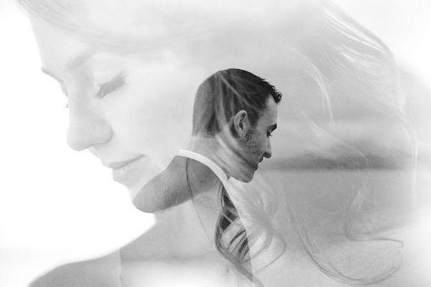Portraits de mariés en double exposition. Photo : Tomasz Wagner