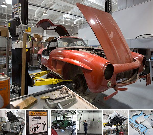 NOTCOT: Mercedes-Benz Classic Center Workshop