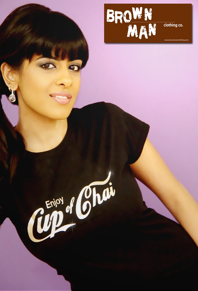 Our famous Cup of Chai shirt as modeled during our 2013 Model Contest. Loving it! brownmanclothing.com
