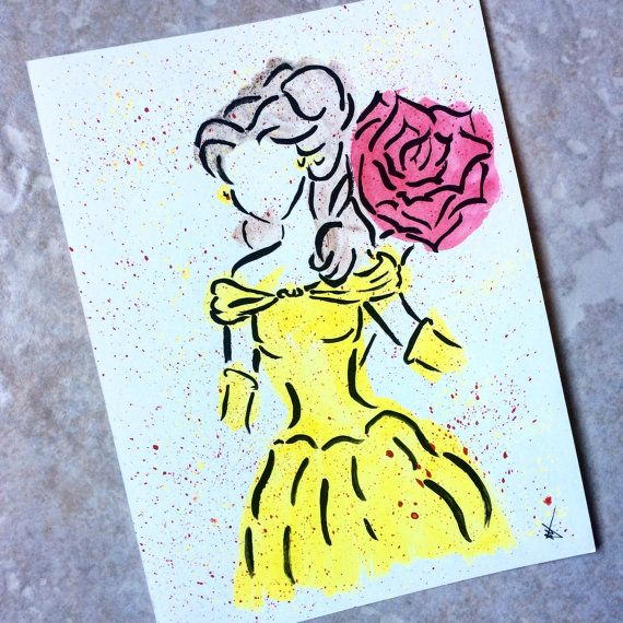 Hey, I found this really awesome Etsy listing at https://www.etsy.com/listing/208538265/belle-in-watercolor-painting
