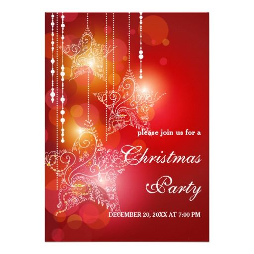 Best 550 christmas holiday party invitations ideas on pinterest christmas glow hanging stars party invitation stopboris Choice Image