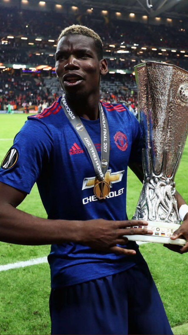 Paul Pogba and the Europa League trophy, 2017